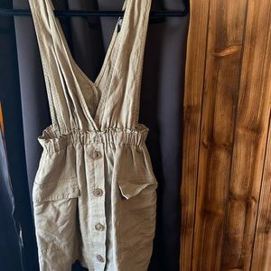 ZARA overall dress with pockets